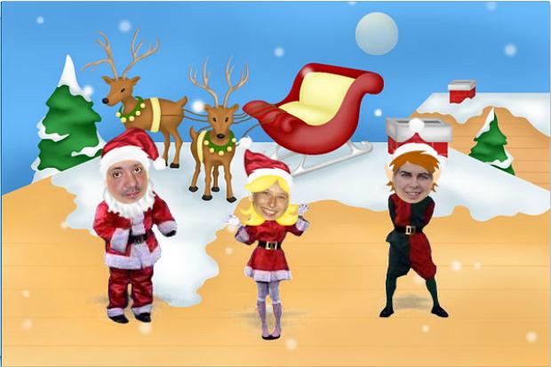 Felicitacion Navidad Personalizada Fotos.Crea Una Postal Animada De Navidad Tecnologia