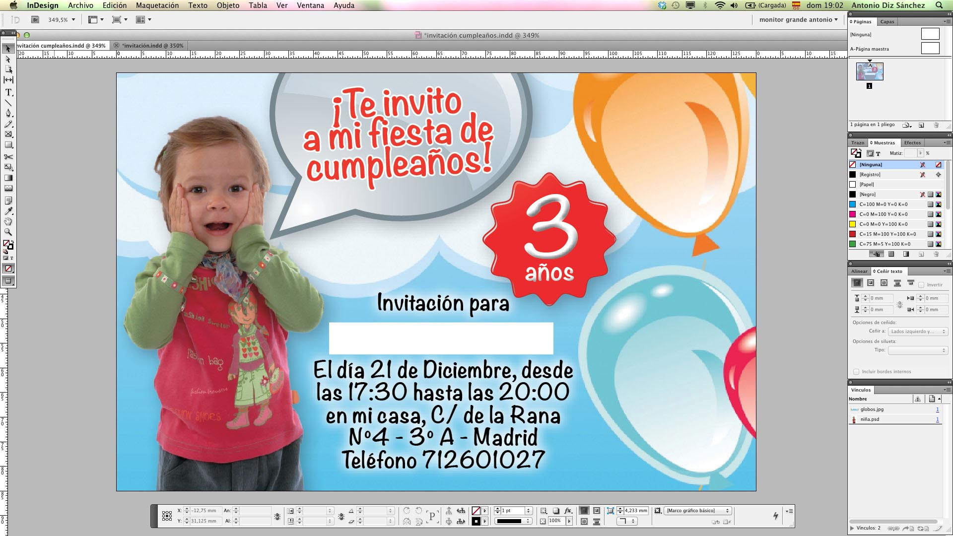 Crea Una Invitación De Cumpleaños Con Adobe Indesign