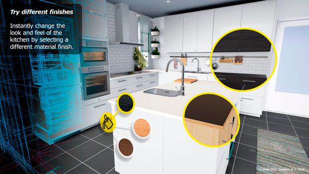 Ikea lanza una app de realidad virtual para dise ar for Disenar mi cocina ikea