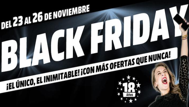 ofertas y descuentos del black friday 2017 de media markt. Black Bedroom Furniture Sets. Home Design Ideas