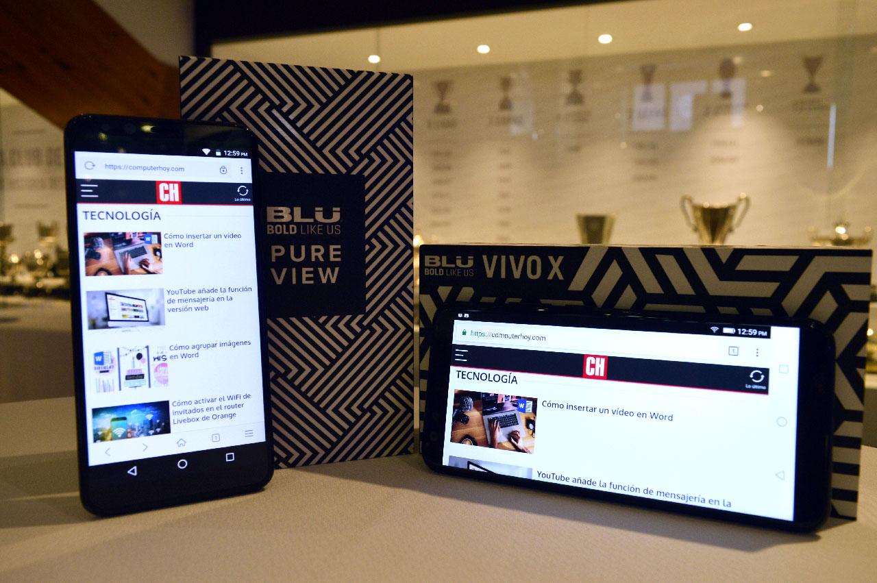 Así son los Blu Vivo X y Pure View, dos móviles para cubrir los extremos de la gama media