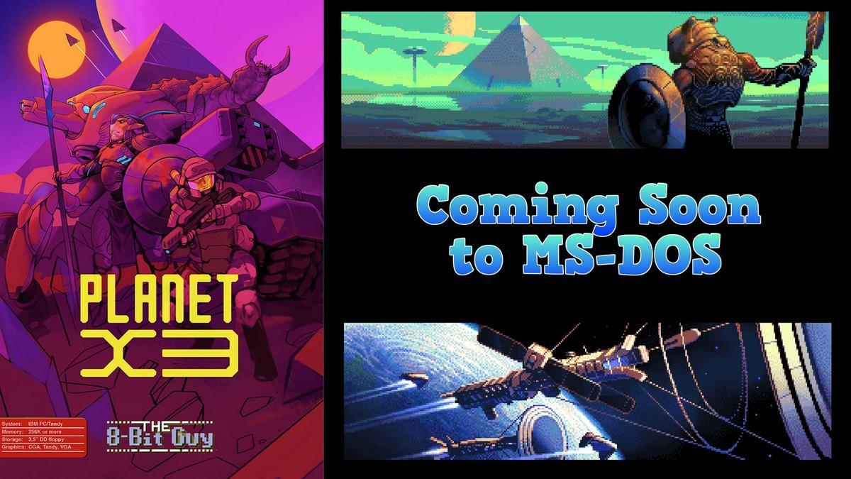 Planet X3, un juego desarrollado para MS-DOS en 2018