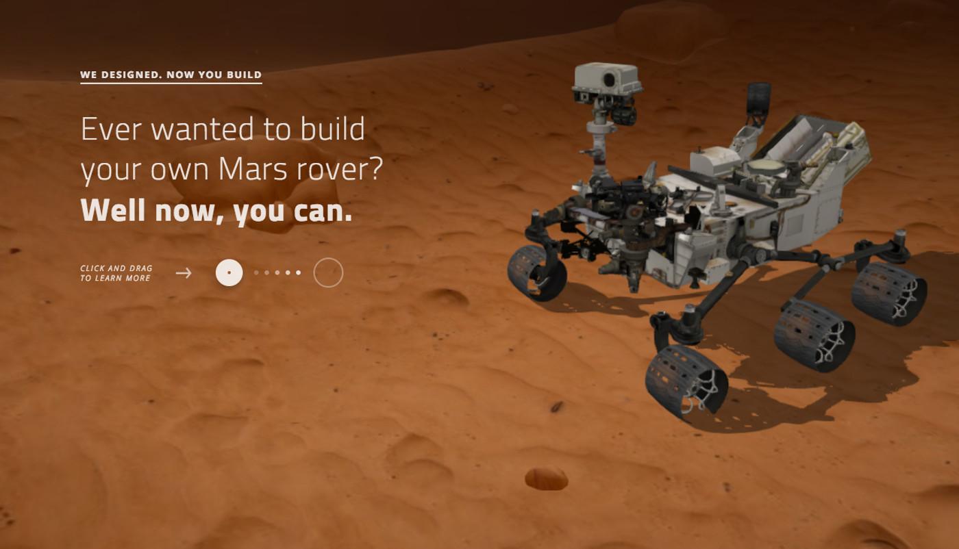 Crea tu propio robot para explorar Marte con esta herramienta gratis de la NASA