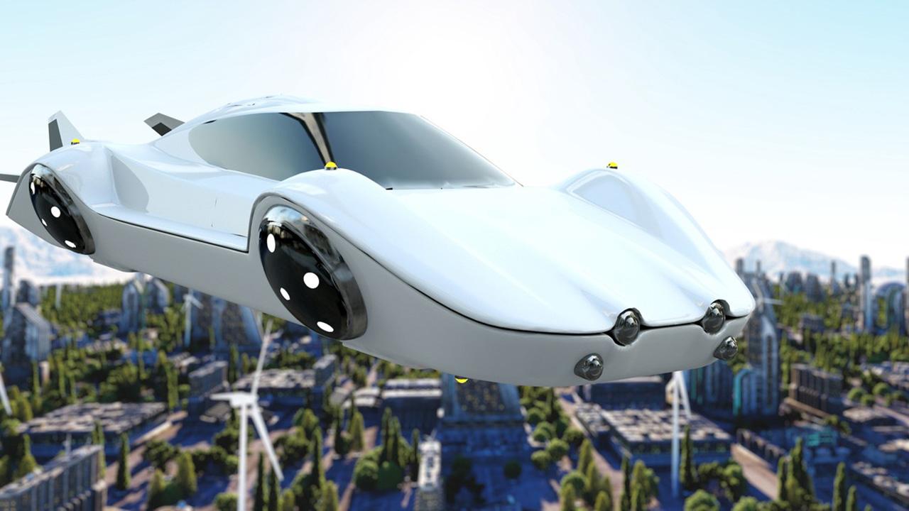 Los coches voladores podrían ir conectados a líneas eléctricas