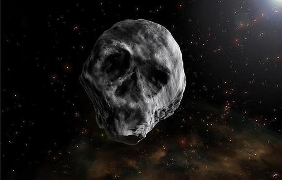 Un cometa muerto con forma de calavera se dirige hacia la Tierra