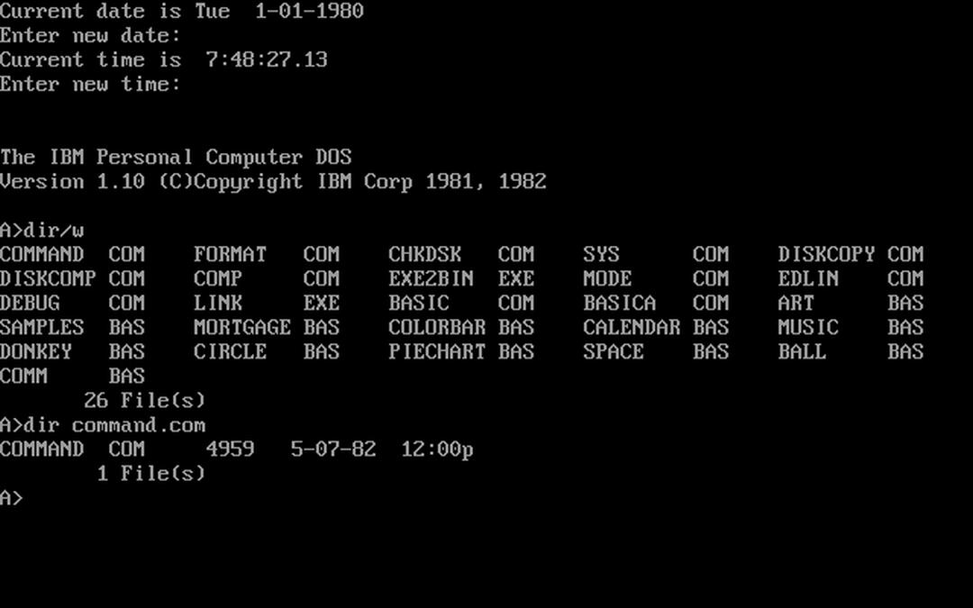 Microsoft cuelga el código fuente del mítico MS-DOS en GitHub
