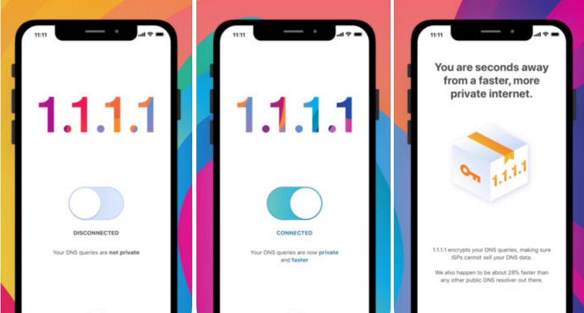 Las DNS más rápidas y privadas, 1.1.1.1, llegan a iOS y Android