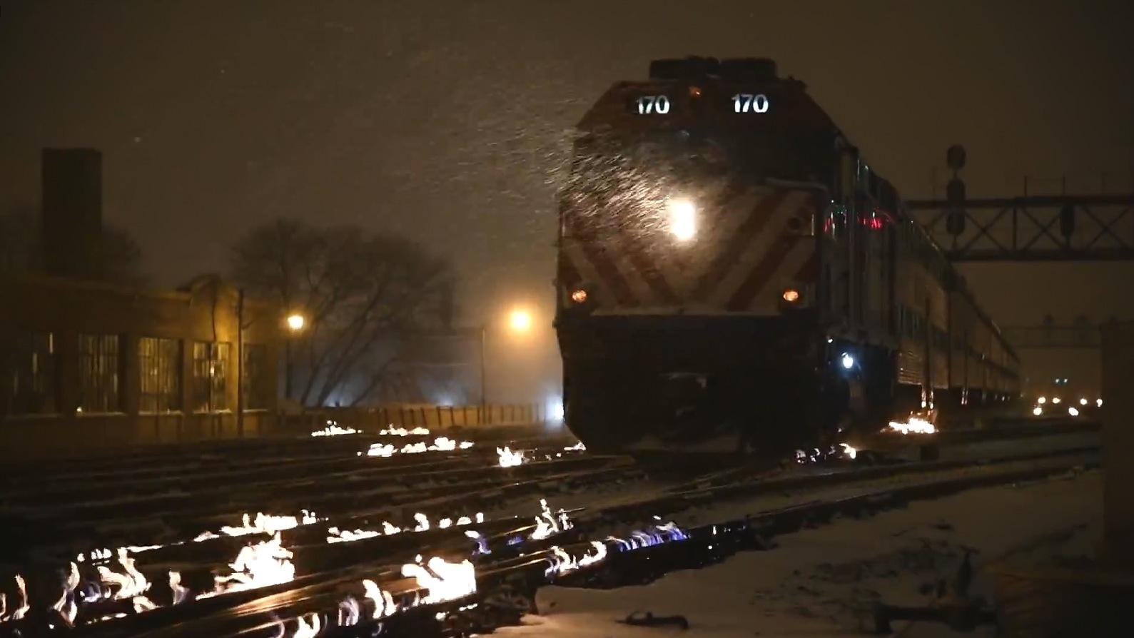 ¿Por qué arden las vías de la estación de Chicago, si están a 40 grados bajo cero?