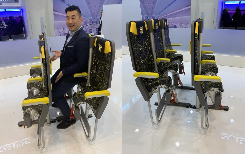 Los asientos para volar de pie, la nueva pesadilla de los vuelos de bajo coste