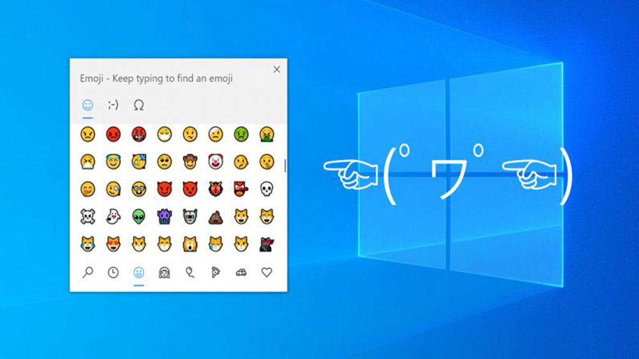 Así puedes usar emojis, emoticonos y símbolos en Windows 10