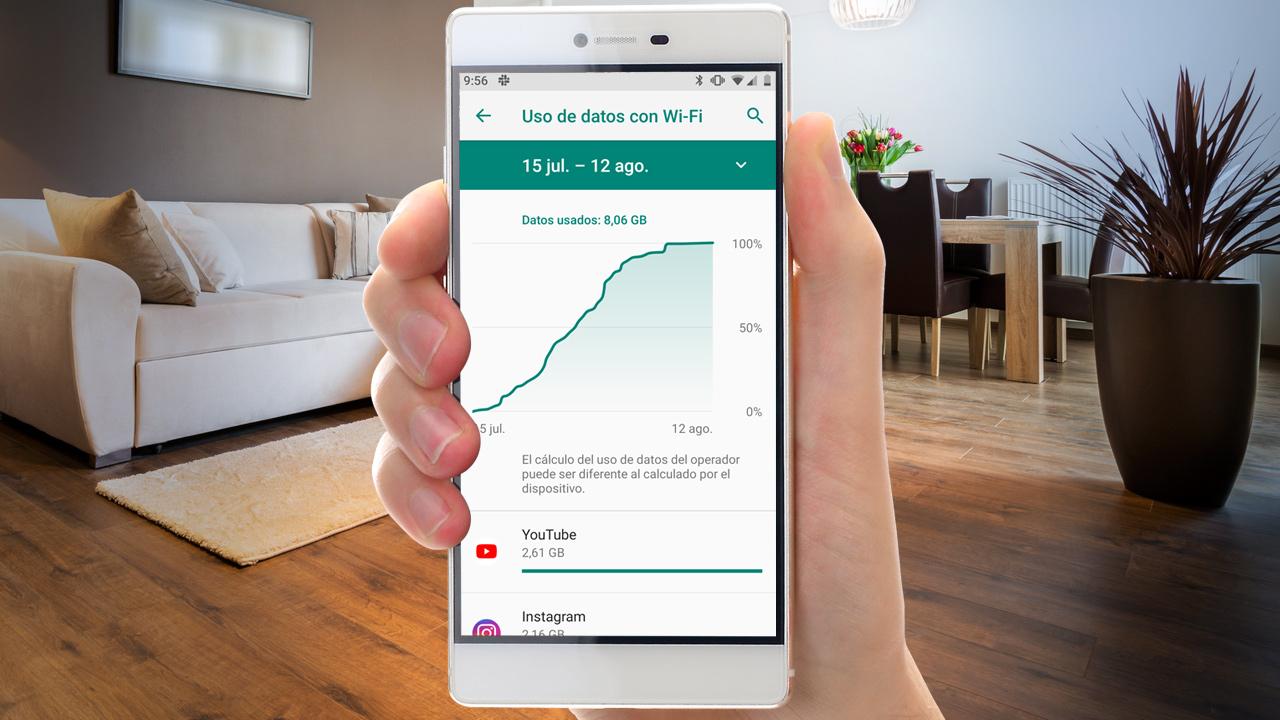 Cómo saber cuántos datos móviles he consumido este mes en Android