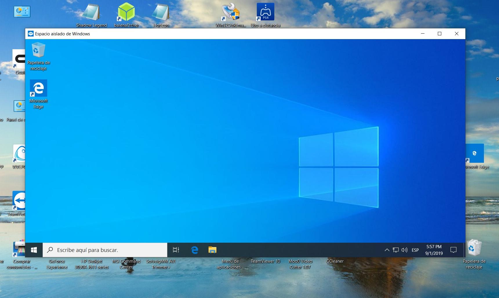 Cómo habilitar un entorno Sandboxing en Windows 10