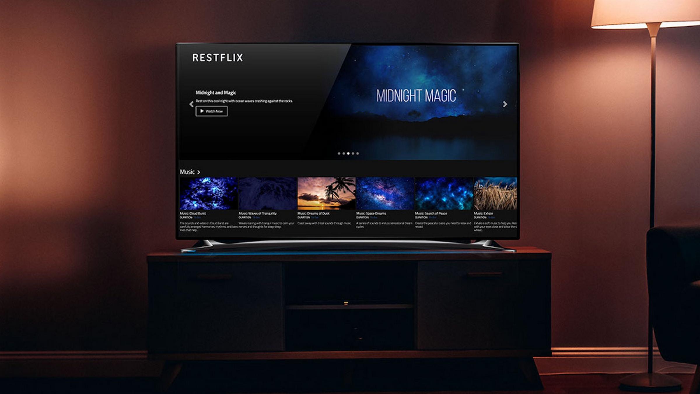 Ya está aquí Restflix, el Netflix para quedarse dormido | Entretenimiento -  ComputerHoy.com
