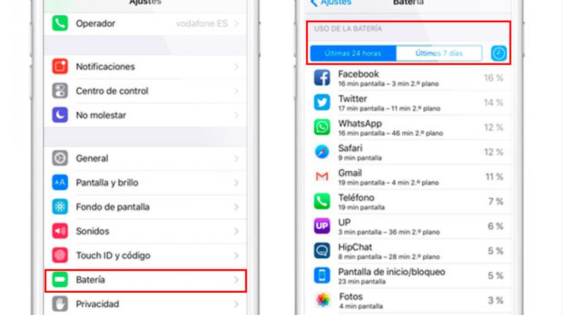 Truco para averiguar qué apps de iOS 9 están drenando la batería