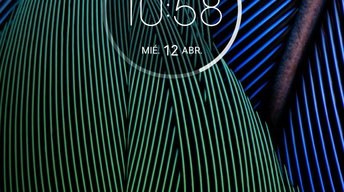 La pantalla principal del Moto G5 Plus