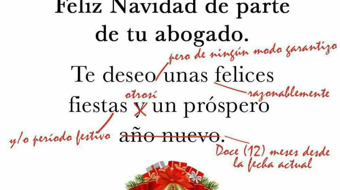 Felicitaciones graciosas de Navidad.