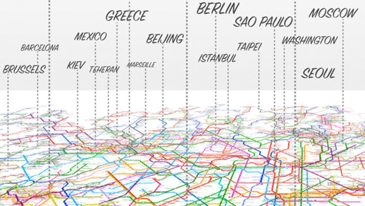Asi Es El Mapa Mundial De Metro Con Lineas De 214 Ciudades Life