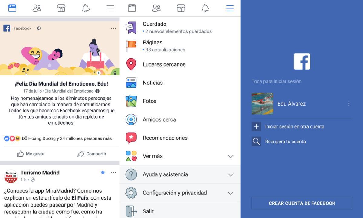 Como Iniciar Sesion En Facebook Con Otro Usuario Tecnologia Computerhoy Com Iniciar sesion facebook para celular móviles. facebook con otro usuario