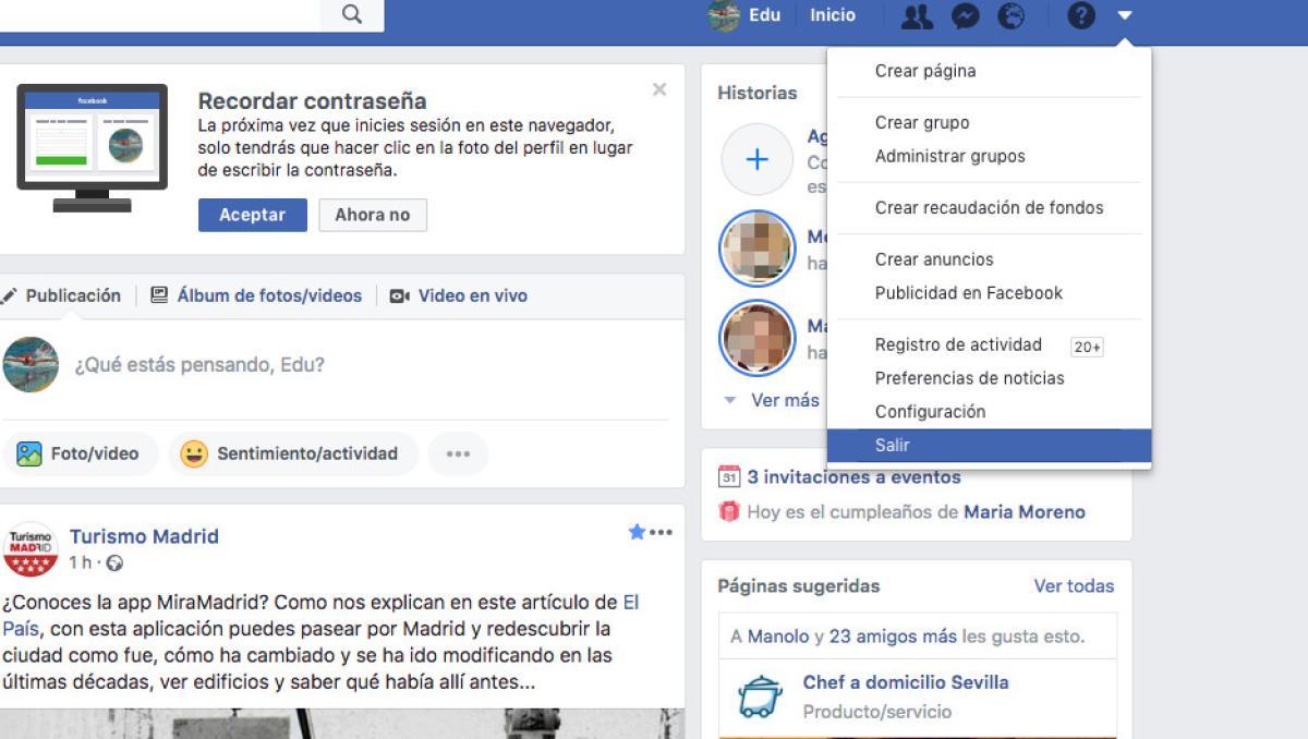 Como Iniciar Sesion En Facebook Con Otro Usuario Tecnologia Computerhoy Com Iniciar sesión en facebook en español es bien sencillo si sigues al pie de la letra todos los pequeños pasos que en facebook iniciar sesión. facebook con otro usuario