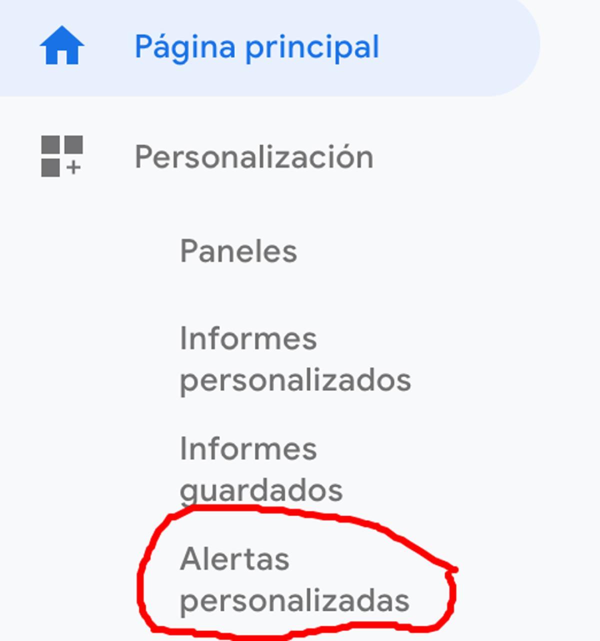 Alertas personalizadas