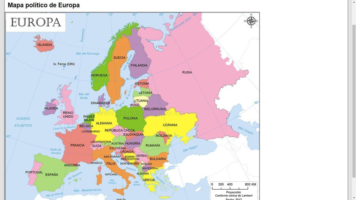 Imprimir Mapa Europa En Blanco.Donde Descargar Mapas De Europa En Color En Blanco Y Negro