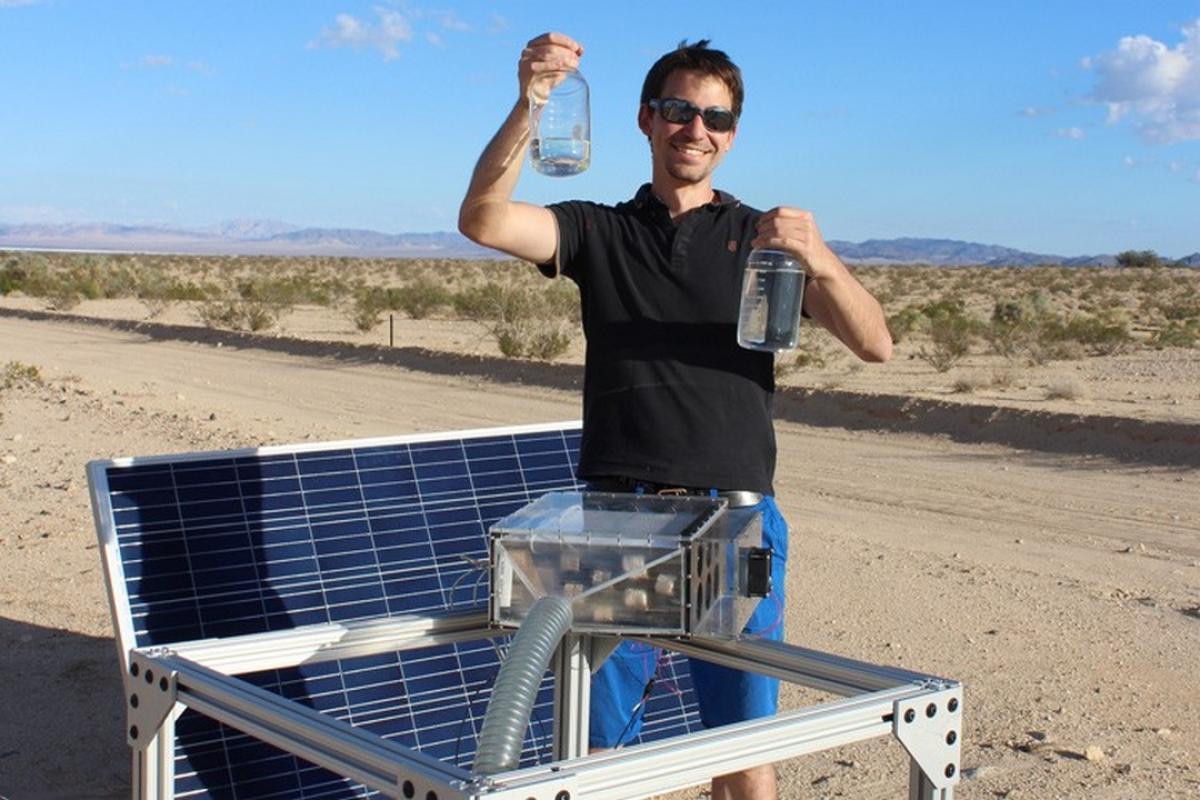 Consiguen extraer agua del aire más seco del desierto