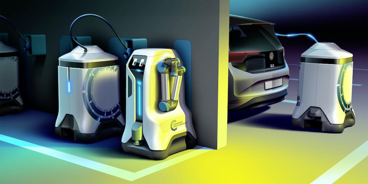 Este robot de Volkswagen cargará tu coche eléctrico sin que tú tengas que hacer nada