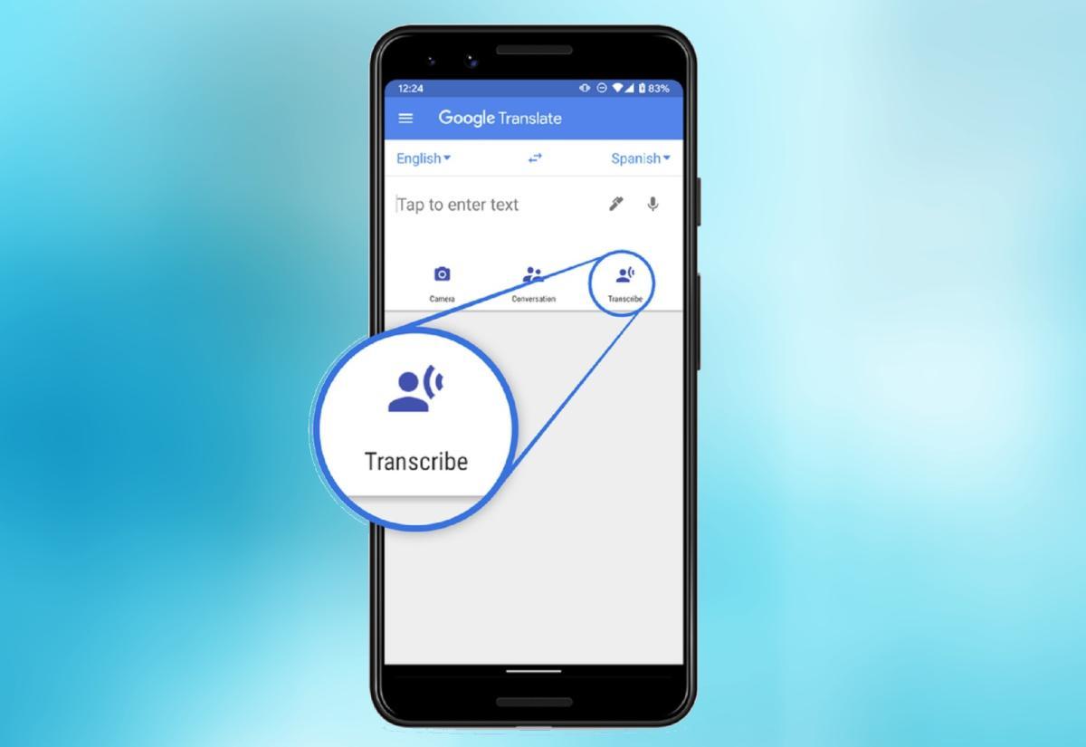 Google Translate activa la opción de transcribir