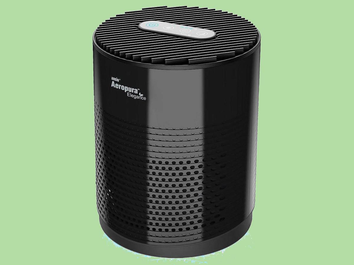 Caspa de Mascotas ROVACS Purificador de Aire Dom/éstico Polvo 24 dB Modo de Suspensi/ón Limpiadores de Aire de Escritorio Filtro HEPA H13 Que Elimina el 99,97/% de Alergias CADR 88 m/³ // h