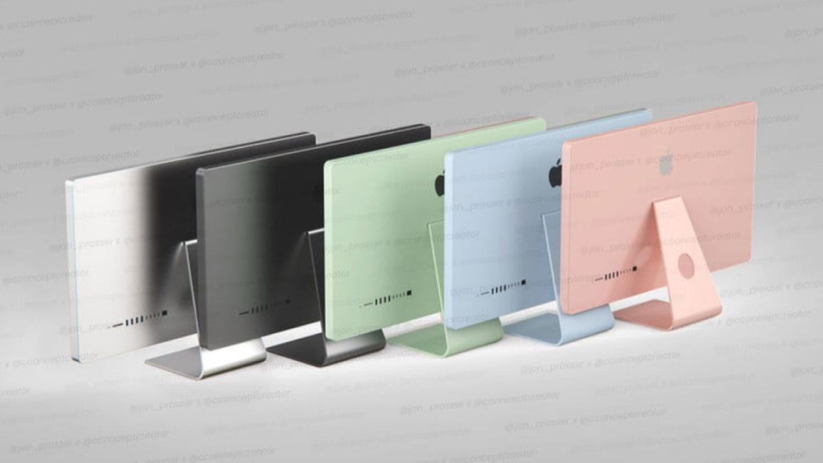 Los iMac en varias opciones de color serían los ...