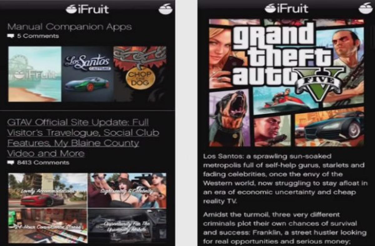iFruit, la app de GTA V para tu móvil | Gaming - ComputerHoy com