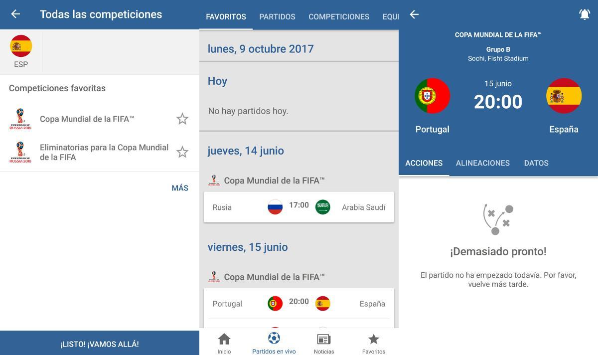 Aplicaciones Mundial Rusia 2018