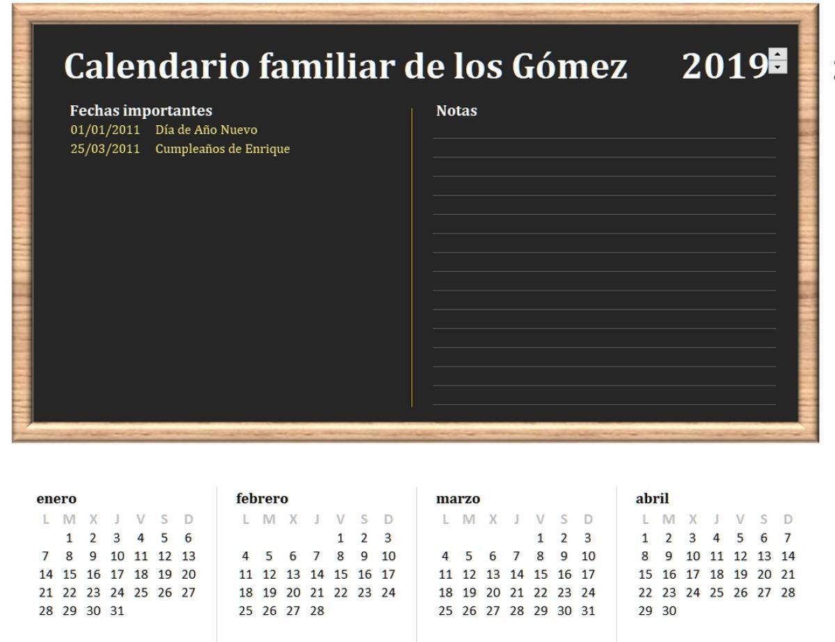 Como Hacer Un Calendario En Word.Descarga El Calendario 2019 Plantillas Imagenes Y Diferentes