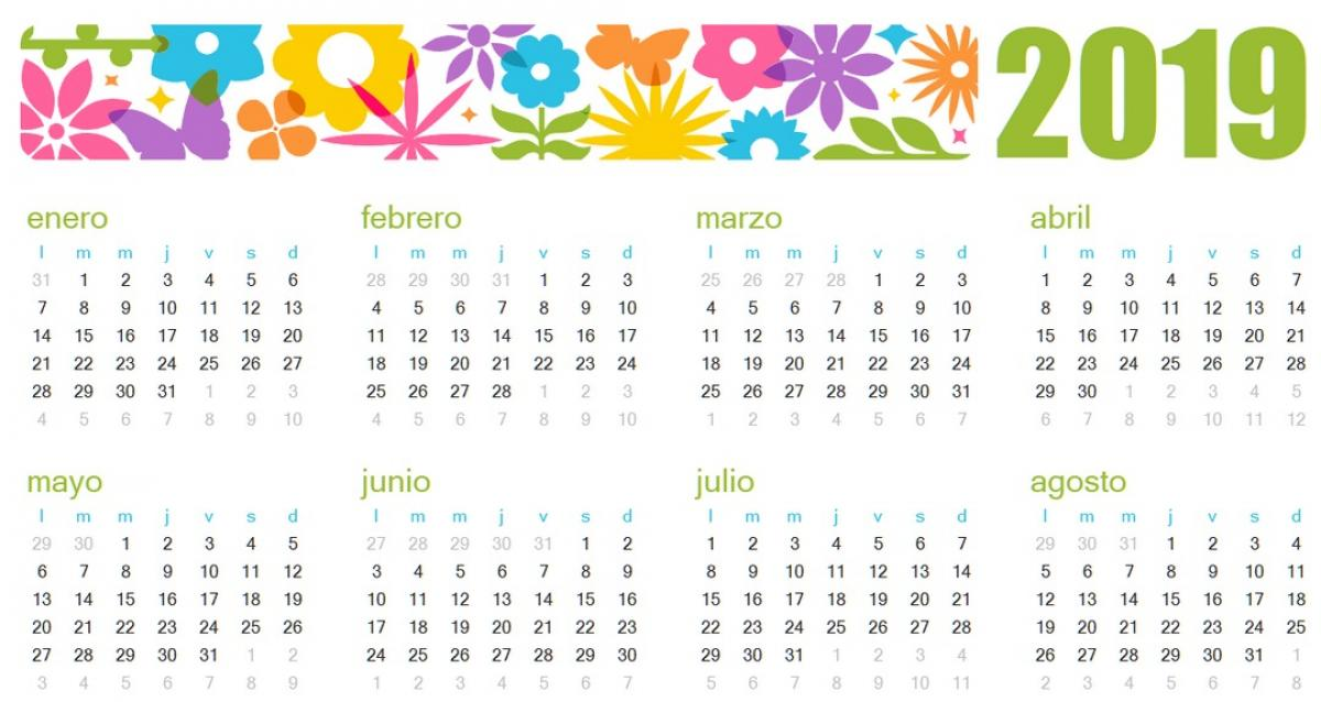 Calendario Chino De Embarazo 2019 Original Como Funciona.Descarga El Calendario 2019 Plantillas Imagenes Y