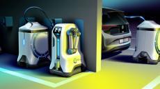 Robot de Volkswagen para cargar coches eléctricos