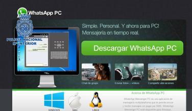 Fraude del falso programa. Instala WhatsApp para PC. ¡Aunque no exista! Es un virus.