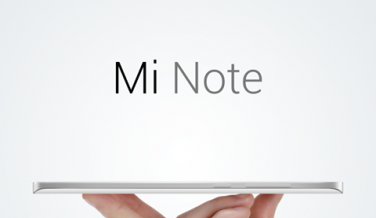 Xiaomi Mi Note es extremadamente delgado, sólo 0,69 cm