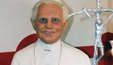 Ratzinger en el Museo de Cera de Madrid