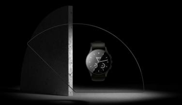 Vector Watch. Luna, con correa negra de nylon.