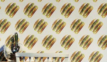 McDonalds línea ropa Big Mac papel pared