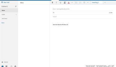 Aspecto del nuevo cliente de correo de Windows 10