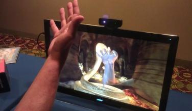 La computación perceptual recuerda a la clásica escena de Minority Report.