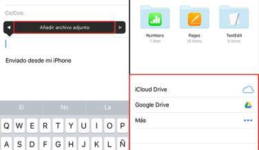 Cómo añadir archivos adjuntos en iOS 9 con la app Mail