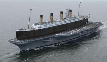El Titanic sobre un portaaviones
