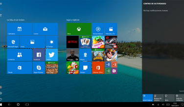 El modo tablet de Windows 10