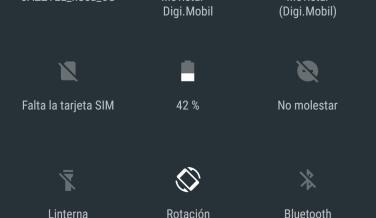 Y así es el centro de notificaciones al completo, con todas las opciones de acceso rápido