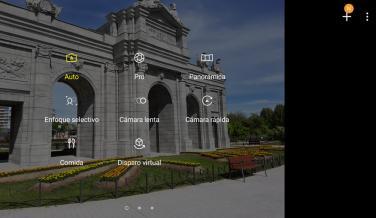Los diferentes modos de cámara que tiene la aplicación