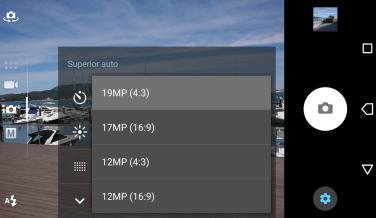 Aplicación de cámara del Sony Xperia XZ Premium