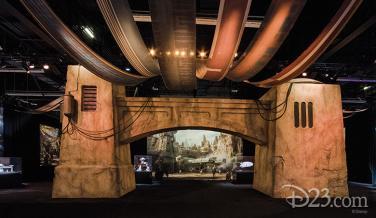 Primera maqueta de Star Wars Land
