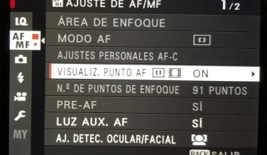 Interfaz de la Fujifilm X-T20